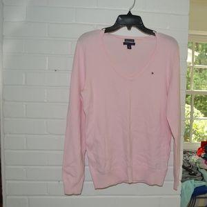 Pink Tommy Hilfiger V-Neck